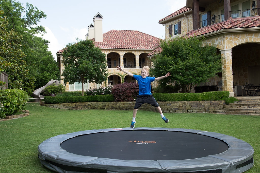 New Platinum Combo Pro Line In Ground Trampoline